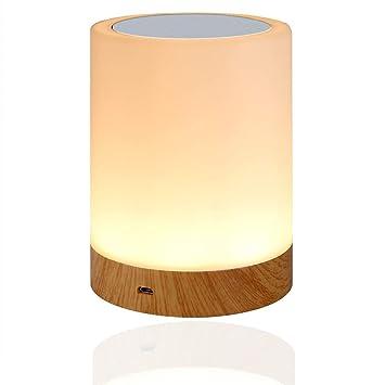 RGB LED Design Wohn Schlaf Zimmer Lampe Nacht Tisch Lampe Leuchte Fernbedienung