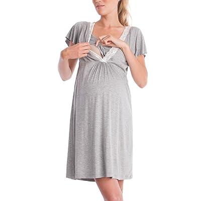 Aiweijia Dentelle de Mode Couture multifonctionnelle Mère Allaitement Robe