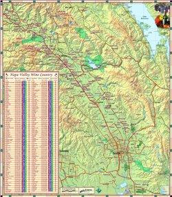 Amazoncom Paper Napa Valley Wine Country Wall Map X - Napa valley vineyard map