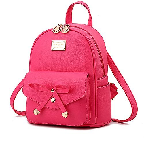 a347a0d009fb Cute Mini Leather Backpack Fashion Small Daypacks Purse for Girls and Women  - Buy Online in Oman.