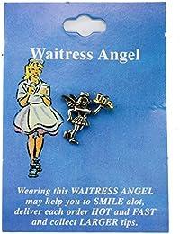 Waitress Angel Hat Lapel Pin