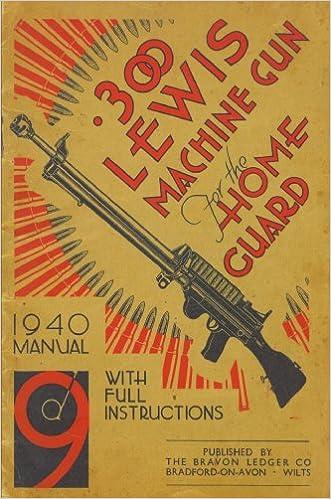 300 Lewis Machine Gun For The Home Guard 1940 Manual H W Bodman