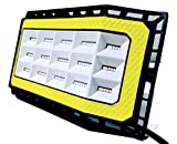 Labor Day Sale !! New Design 50 Watts (5000 lumens) Super Bright Outdoor LED Flood Light/Wider 180+ Degree of Lighting. IP66 Grade Waterproof. Great for Backyard, aisles, Fields and garages (Yellow)
