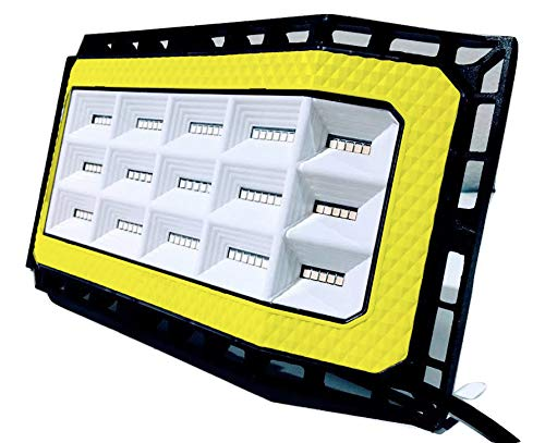 Labor Day Sale !! New Design 50 Watts (5000 lumens) Super Bright Outdoor LED Flood Light/Wider 180+ Degree of Lighting. IP66 Grade Waterproof. Great for Backyard, aisles, Fields and garages (Yellow) by RedLED