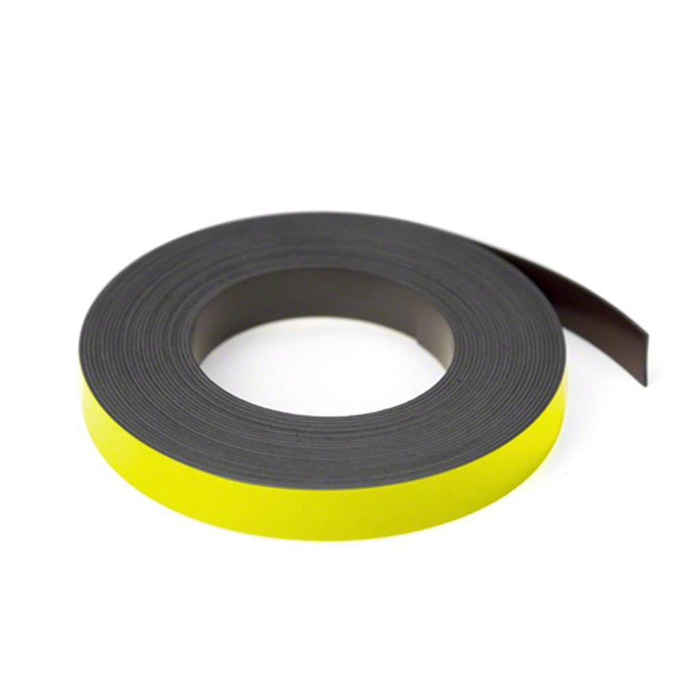 Magnet Expert® Yellow 12.7mm wide x 0.76mm thick Magnetic Gridding Tape ( 12.7mm x 0.76mm x 5 Metres ) ( Pack of 5 ) Magnet Expert® MFL12(YE)-5X5M