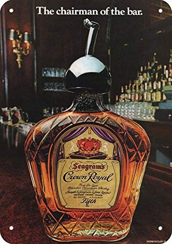 (Yilooom 1976 Seagram'S Crown Royal Whisky Replica Metal Sign 7