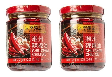 Lee Kum Kee Chiu Chow Chili Oil net wt. 205g (7.2oz) Pack of 2