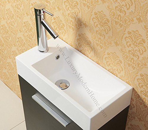 vs ALEXIUS - BLACK - 20″ x 10″ Inch Small Bathroom Vanity ...