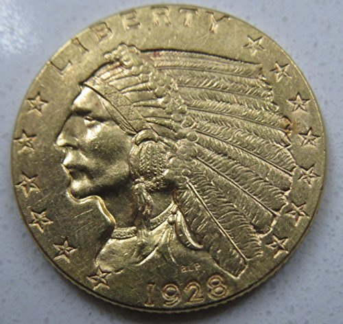 (1928 Quarter Eagle Indian Head .900 Fine Gold $2.50 Choice Uncirculated)