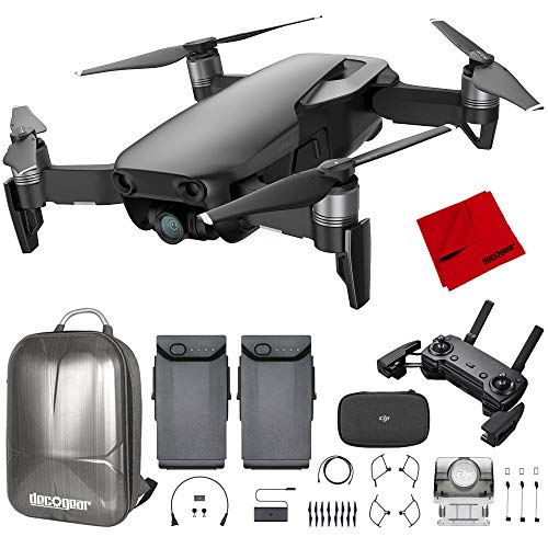 - DJI Mavic Air Quadcopter with Remote Controller - Onyx Black Max Flight Bundle with Spare Battery, and Custom Mavic Air Hard Shell Back Pack