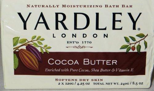 Yardley London, Cocoa Butter Bar Soap, 4.25 Oz - Yardley Cocoa Butter Soap