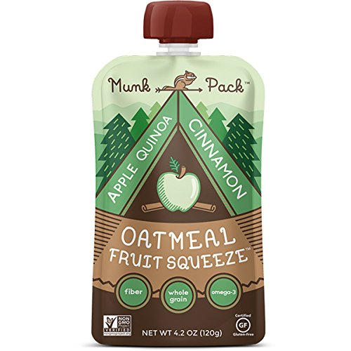 Munk Pack Oatmeal Fruit Squeeze, 4.2 oz Pouch, 6 Pack