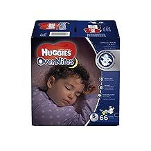 Huggies Overnite Diapers, Step 5, Giga Pack, 66-Count