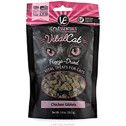 Vital Essentials Freeze-Dried Vital Cat Treats Chicken Giblets, 1 oz