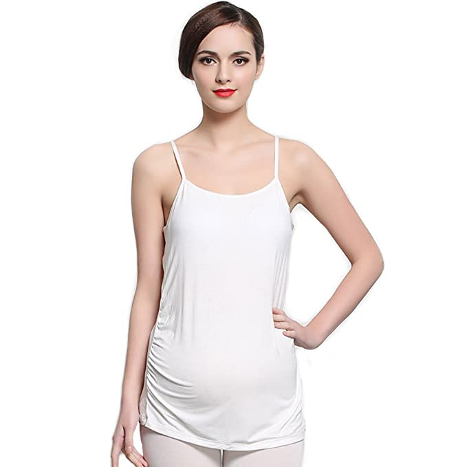46c4316000a84 Ibeauti Pregnant Women Maternity Nursing Tank Top Camisoles with Built in  Bra (S