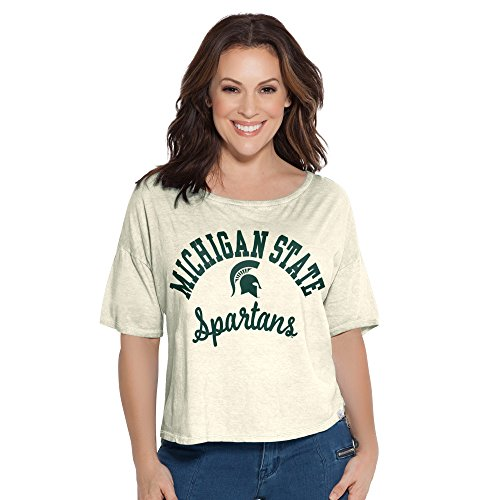 Touch by Alyssa Milano NCAA Michigan State Spartans Women's Second Base Reversible Tee, Large, White