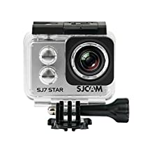 Official SJCAM® SJ7 Star WiFi Action Camera (Silver), 4K UltraHD, 30M Waterproof, Touchscreen, Metal Body, Gyro Stabilization, Time Lapse & Slow Motion, Car Dashcam FPV