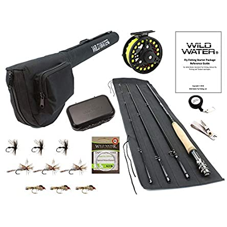 Wild Water Fly Fishing 9 Foot, 4-Piece, 5/6 Weight...
