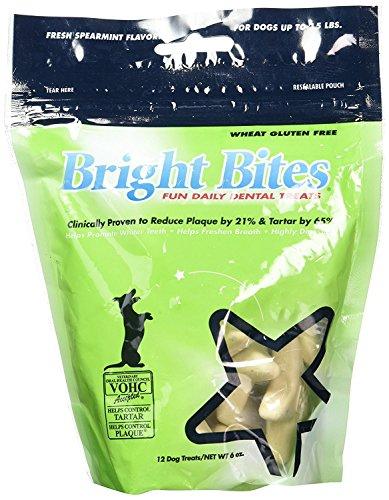 Bright Bites (Diamond Pet Foods AS-8610532-2 Fresh Spearmint Small 6 oz (Pack of 2) Bright Bites Daily Dental Dog Treats)
