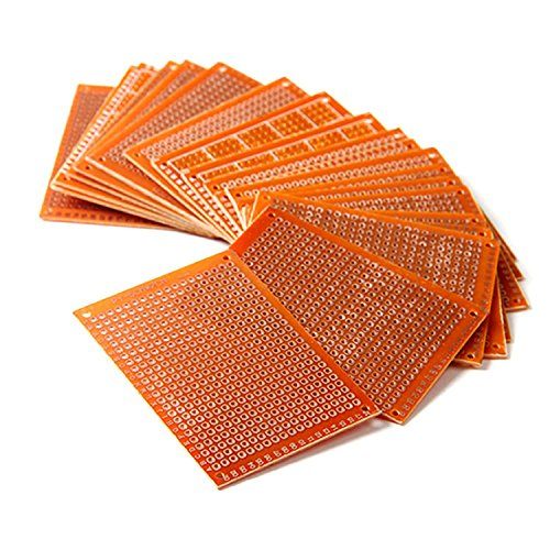 HiLetgo 20pcs Solder Finished Prototype PCB for DIY 5x7cm Circuit Board (Board Material)