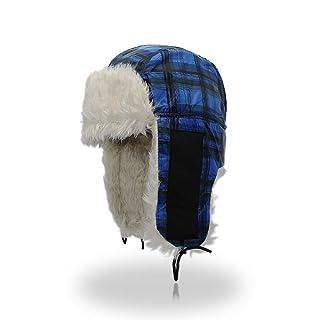 Trapper-hat Reticolo del reticolo caldo e spesso antivento impermeabile unisex cappello da sci passamontagna maschera facciale moto scudo per uomini donne per l'inverno all'aperto in bicicletta snowbo