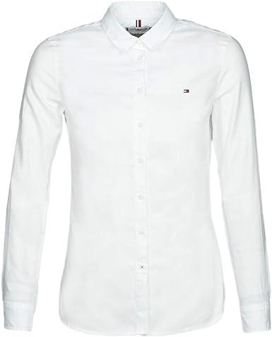 Tommy Hilfiger Camisa Regular fit para Mujer: Amazon.es: Ropa y accesorios