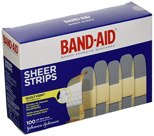 Band-Aid Sheer Strips Bandages 100 Count