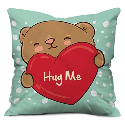 Valentine Gifts for Boyfriend Girlfriend Love Printed Cushion 12X12 Filled Pillow Light Green