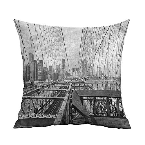 - GtuDecor Throw Pillows Covers for Couch/Bed,Modern,Brooklyn Bridge in New York,Throw Pillows for Bed Teen Girls,W 18
