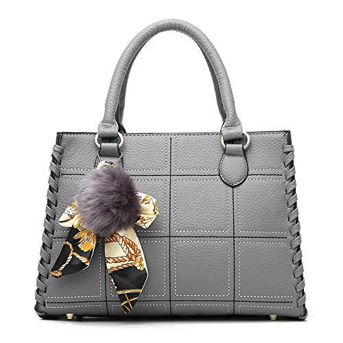 Moda Lavoro Grande Di Messenger Borsa PU Tracolla Donna Shopping Bag Pelle FLHT In Secchio Di Cosmetici A Viaggio Borsa Da Femminile Borsa Capacità Borsa Gray Da Sacchetto Bag Immagazzinaggio vAww018qx
