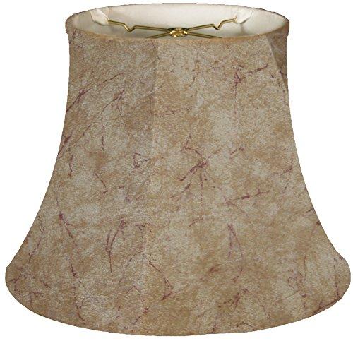 Royal Designs Modified Bell Lamp Shade, Faux Rawhide, 7.5 x 12 x - Shade Faux Rawhide