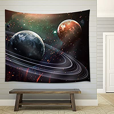 Universe Scene with Planets Stars and Galaxies in...Medium