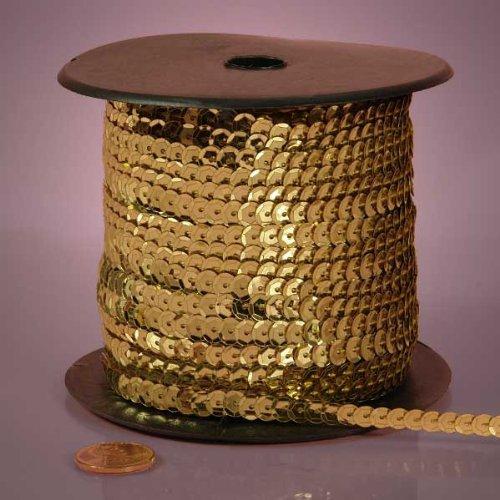 Light Gold Metallic Sequins, 6mm X 80Yd Paper Mart 4337037555