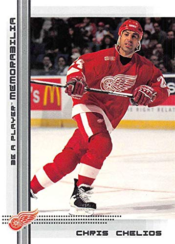 (2000-01 Be A Player Memorablia Hockey #212 Chris Chelios Detroit Red Wings Official Trading Card From ITG In The Game)