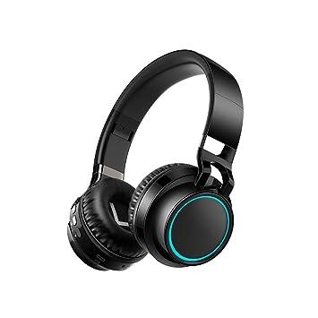 Auriculares inalámbricos Bluetooth Ordenador portátil Auriculares Subwoofer Auriculares de luz de Color Juego Música Deportes con