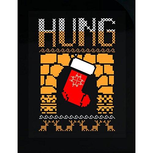 Christmas Stocking Hung On Fireplace Ugly Christmas Sweater - (Fireplace Ugly Sweater)
