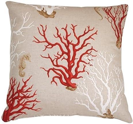 Amazon Pillow Decor Red Coral 40x40 Decorative Pillow Amazing 22x22 Decorative Pillows