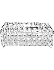 Crystal Tissue Box Rectangular Napkin Holder Pumping Paper Case Decorative Paper Box for Table Wedding Decoration