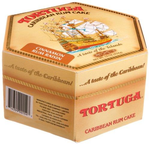 TORTUGA Caribbean Cinnamon Raisin Rum Cake- 16 oz. - The Perfect Premium Gourmet Gift