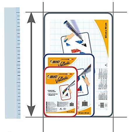 Bic Velleda seco Limpie la tarjeta blanca 60 x 90cm tablero de doble cara: Amazon.es: Oficina y papelería
