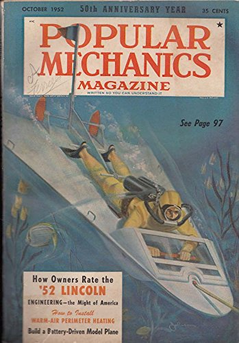 POPULAR MECHANICS Lincoln owner rating Engineering Battery-Driven Plane 10 1952
