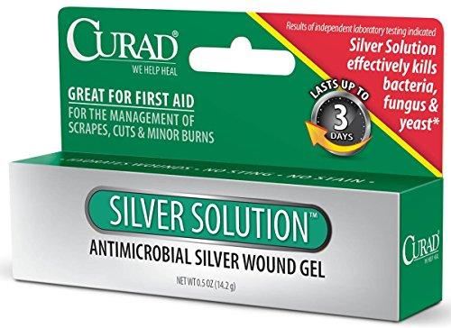Curad Silver Solution Antimicrobial Gel, .5oz - Ounce 0.5 Gel