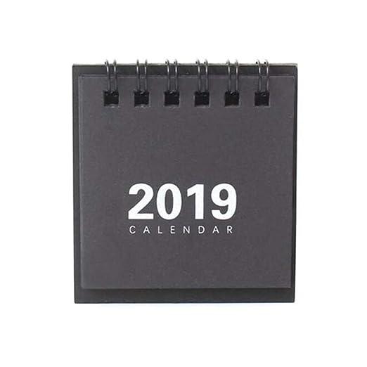 JHEY Año Nuevo Calendario 2019 Moda Simple Encantadora Mini ...