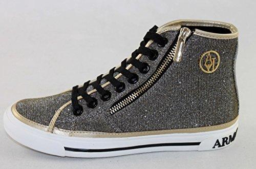 Armani Jeans Schuhe Damenschuhe hohe Sneakers Shoe 925227 gold