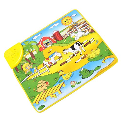 Goodtrade8 Gotd Kids Musical Mat Hot Kids Baby Multicolor Farm Musical Touch Play Singing Carpet Mat Toys Gifts, 49cm x 59cm