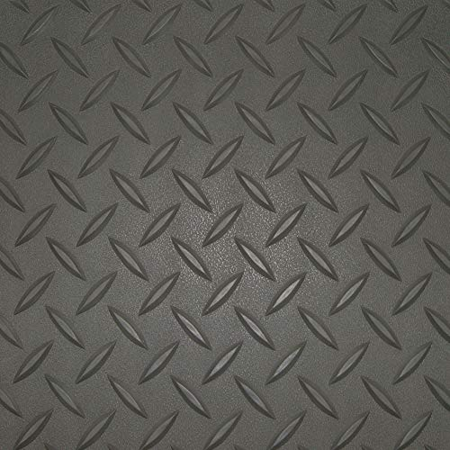 Auto Care Products 80059 Diamond Deck 5' x 9' Golf Cart Mat, Metallic Silver