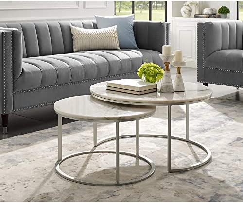 Inspired Home Silver Coffee Table