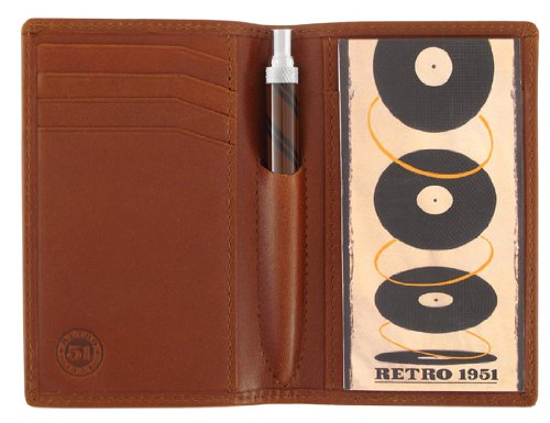 Retro Traveler Leather Folio Brown