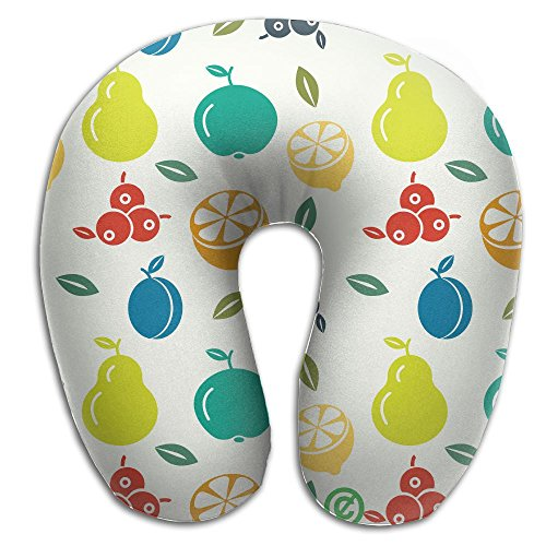 U Shaped Travel Pillow Fruit Memory Foam Soft Neck Portable Pillow For Flight Train Car And Office Naps Bed Pillows for $<!--$25.71-->