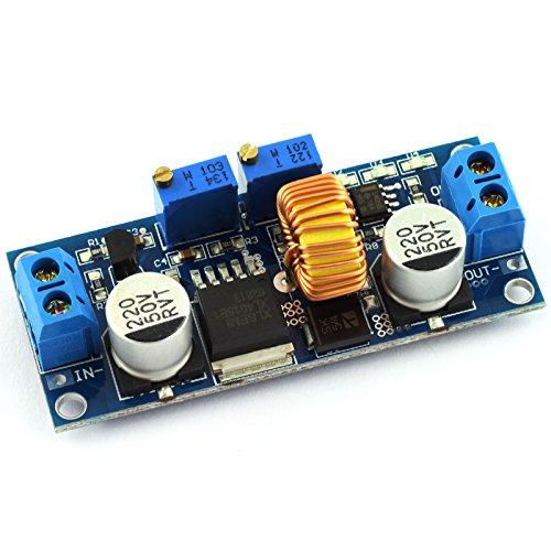 Constant Regulators Current - DZS Elec DC-DC Step-down Constant Current Regulator Module 4-38v Input to 1.25-36v Output Adjustable Large Power 5A 75W Converter for Charging or LED Driver Module